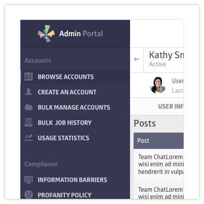 Admin and Compliance Portal