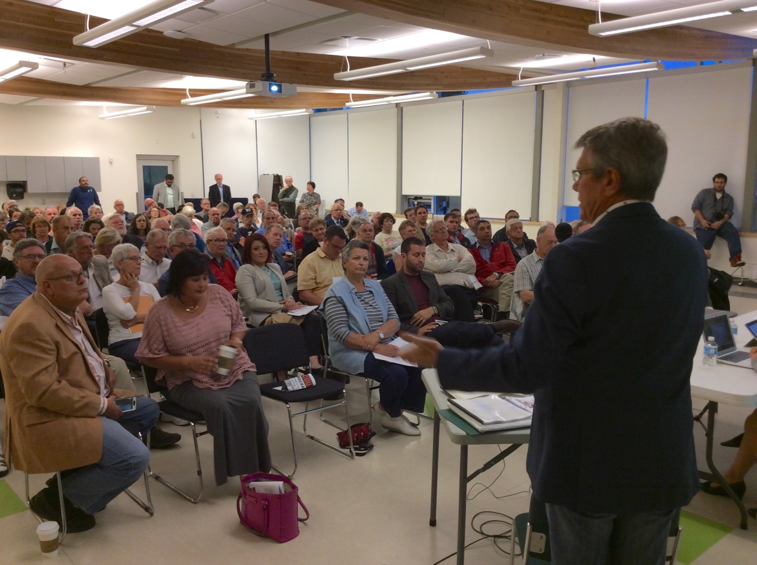 Welcoming participants live and online to the Cloverdale - Langley City Electoral Reform Town Hall - August 2, 2016