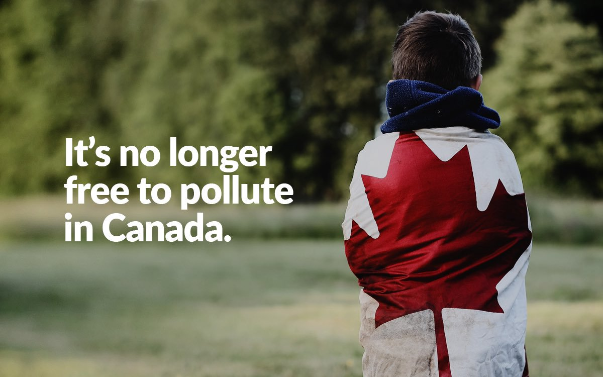It's no longer free to pollute in Canada.