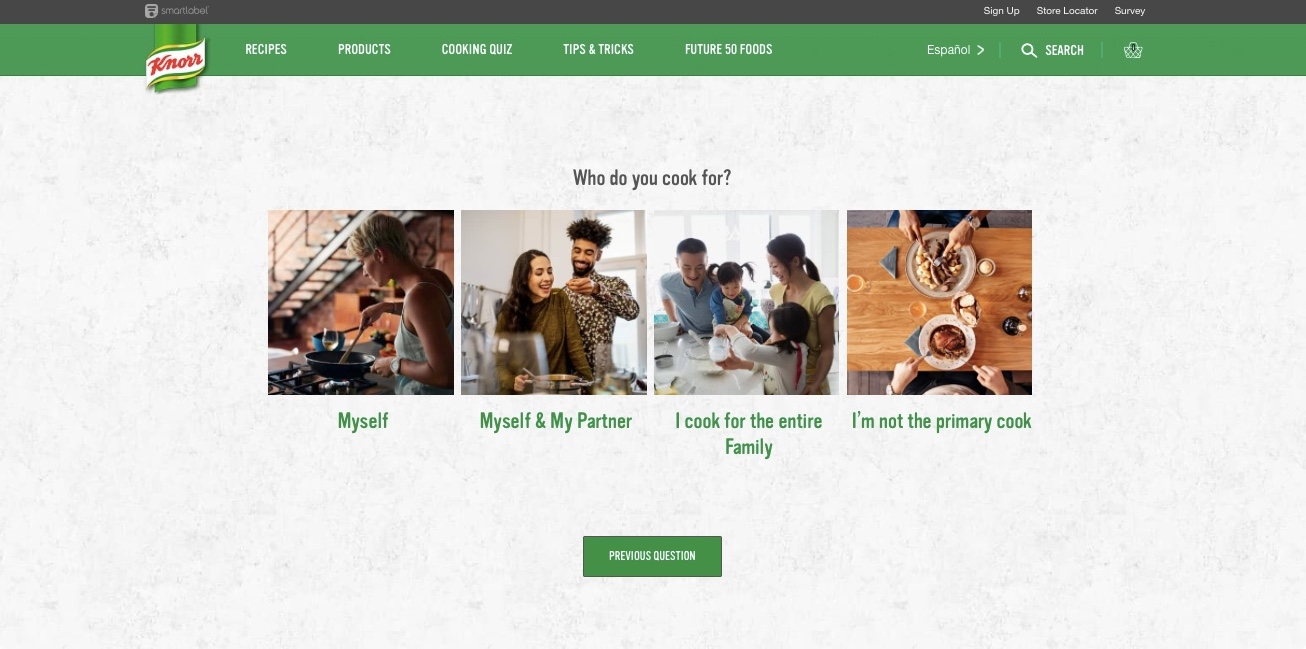Cooking Quiz for Knorr — Sara Molina