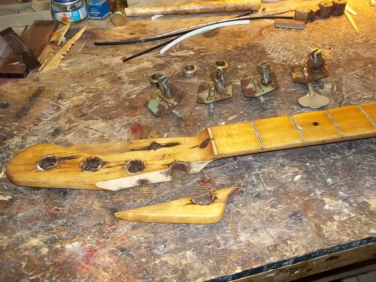 Headstock in pieces