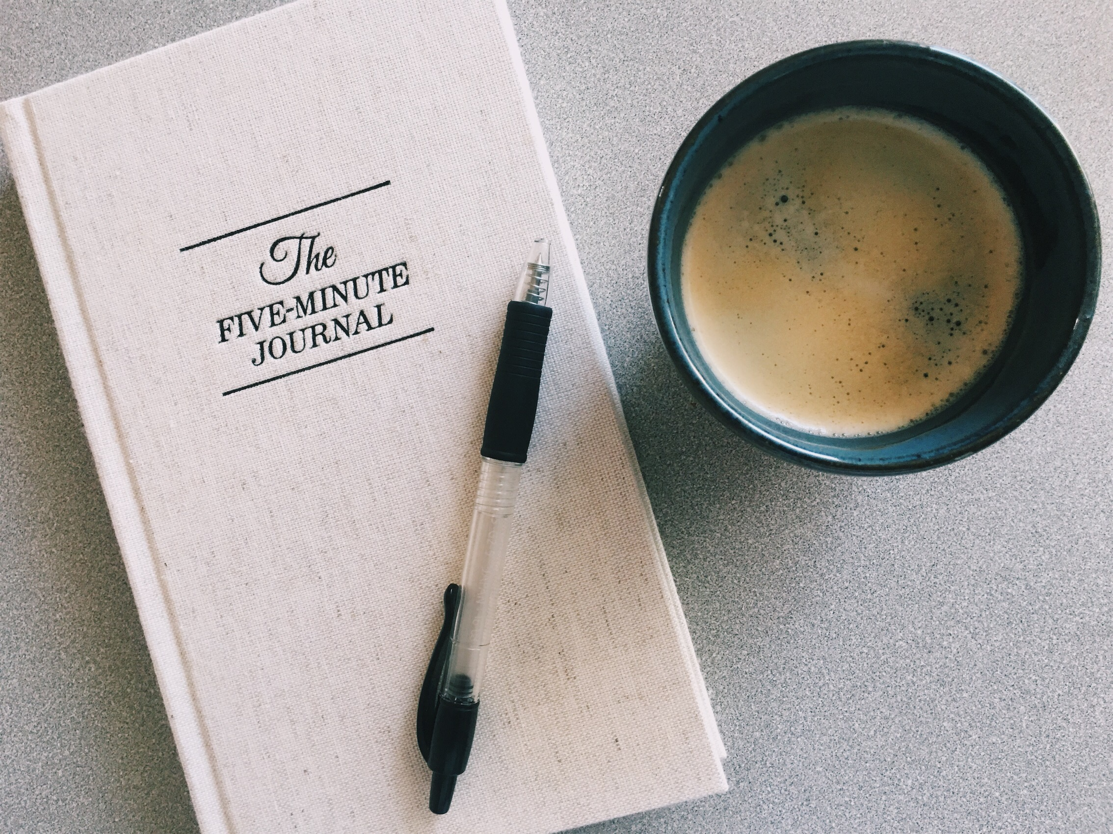 7 am - Wake-up - Americano #1 (served black, no sugar). Morning times are sacred for me and I try to sit quiet and journal. I have an on / off relationship with journaling but was recently gifted The Five Minute journal and it's been wonderful to have a morning writing practice that is easy enough so I can maintain the consistency. **this is not a sponsored post! I just love sharing tools that I use!  8:30 a - Americano #2 (shamelessly). I didn't take a photo because both cups were pretty much the same ;)