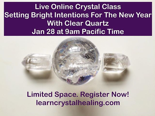 Come join us for a live and interactive online crystal class to clear your stress, heartache and hardships from the past year and to manifest what you want in 2018! Link in bio to register!  #learncrystalhealing #crystalhealing #empath #crystals #gemstones #gemstonejewellery #crystaljewelry #amethyst #crystalclass #boho #bohostyle #chakra #chakras #chakrastones #healingcrystals #crystalove #healingjewelry #spiritualjewelry #reiki #reikihealing #crystalenergy #crystalhealingclass #crystalclass #crystaloftheday #gypsysoul #gypsy #wicca #wiccan #pagan #energyhealing #healingcrystals #lightworker