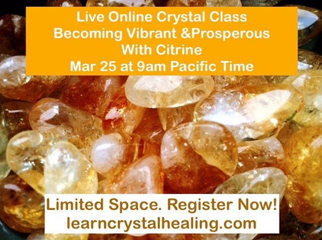 Come join us for a live and interactive online crystal class to clear negative beliefs about prosperity, clear jealousy of other people's successes, shift out of poverty consciousness into prosperity consciousness and learn how to manifest prosperity in your life! Link in bio to register!  #learncrystalhealing #crystalhealing #empath #crystals #gemstones #gemstonejewellery #crystaljewelry #amethyst #crystalclass #boho #bohostyle #chakra #chakras #chakrastones #healingcrystals #crystalove #healingjewelry #spiritualjewelry #reiki #reikihealing #crystalenergy #crystalhealingclass #crystalclass #crystaloftheday #gypsysoul #gypsy #wicca #wiccan #pagan #energyhealing #healingcrystals #lightworker