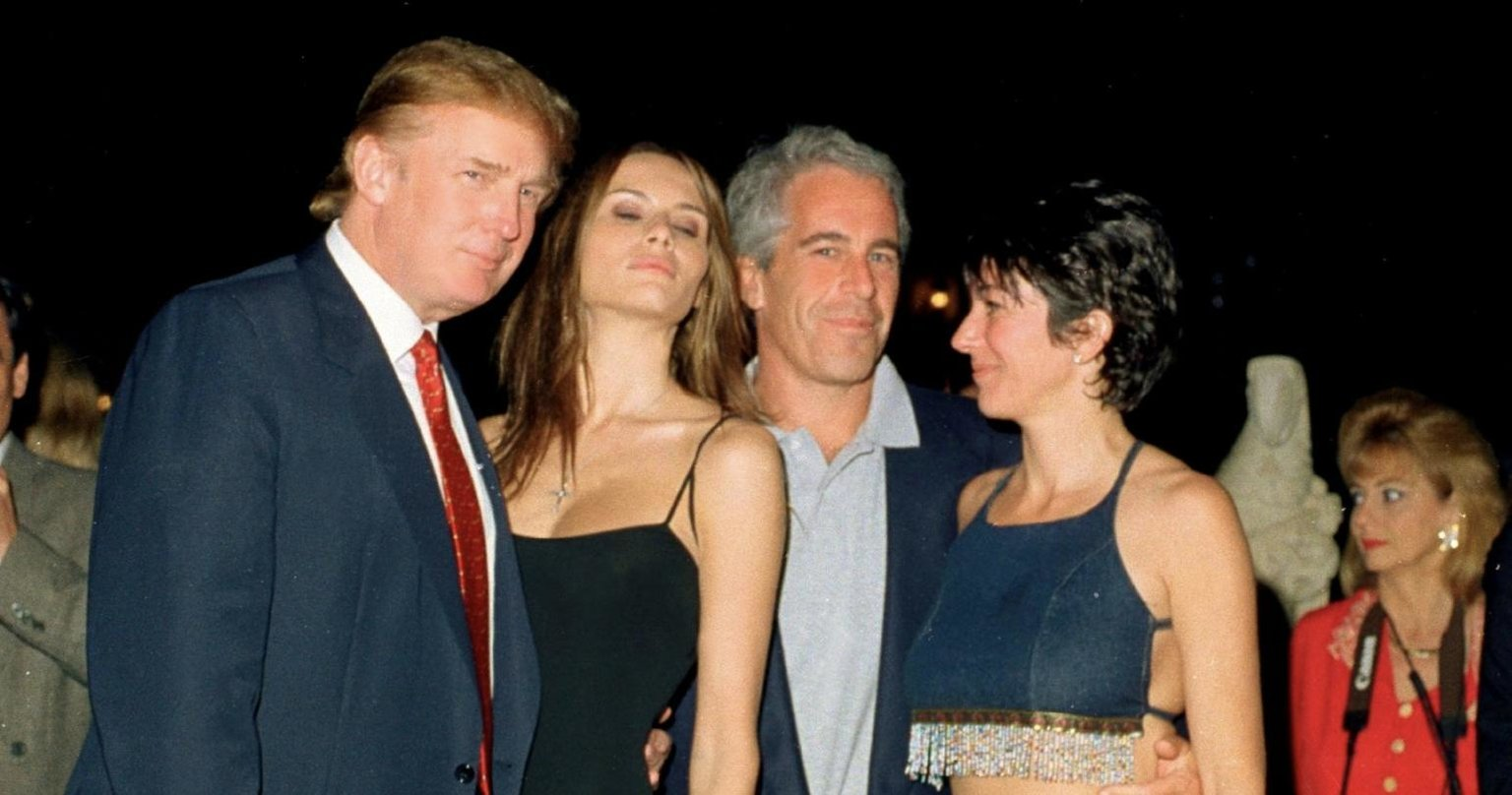 Future Prez poses with Slovenian woman and sex trafficker Jeffrey Epstein at Mar-a-Lago. Good times!