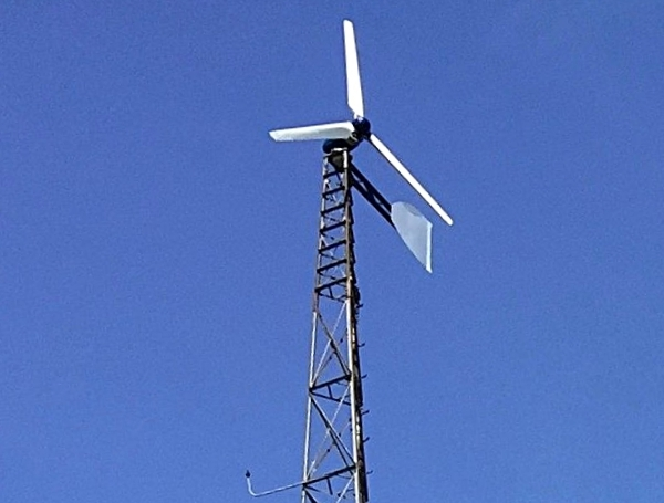 Weaver 5 kW wind turbine. Active furling. wind power. wind turbine. wind energy. renewable energy. microgrid. off-grid.