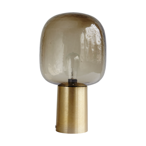 Smoked Glass Brass Lamp £175