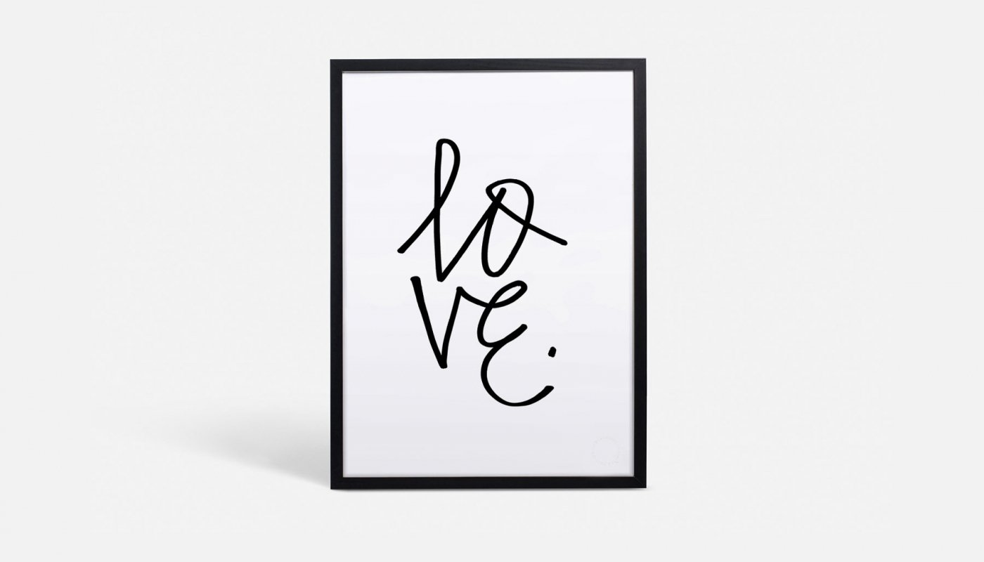 Love Typographic Art Print