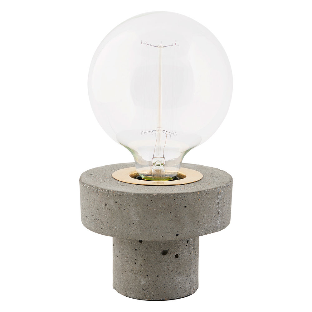 Concrete Brass Pin Light
