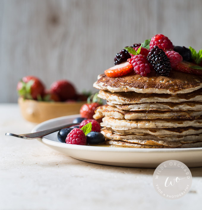 Gluten Free buttermilk pancakes by Wilde Orchard