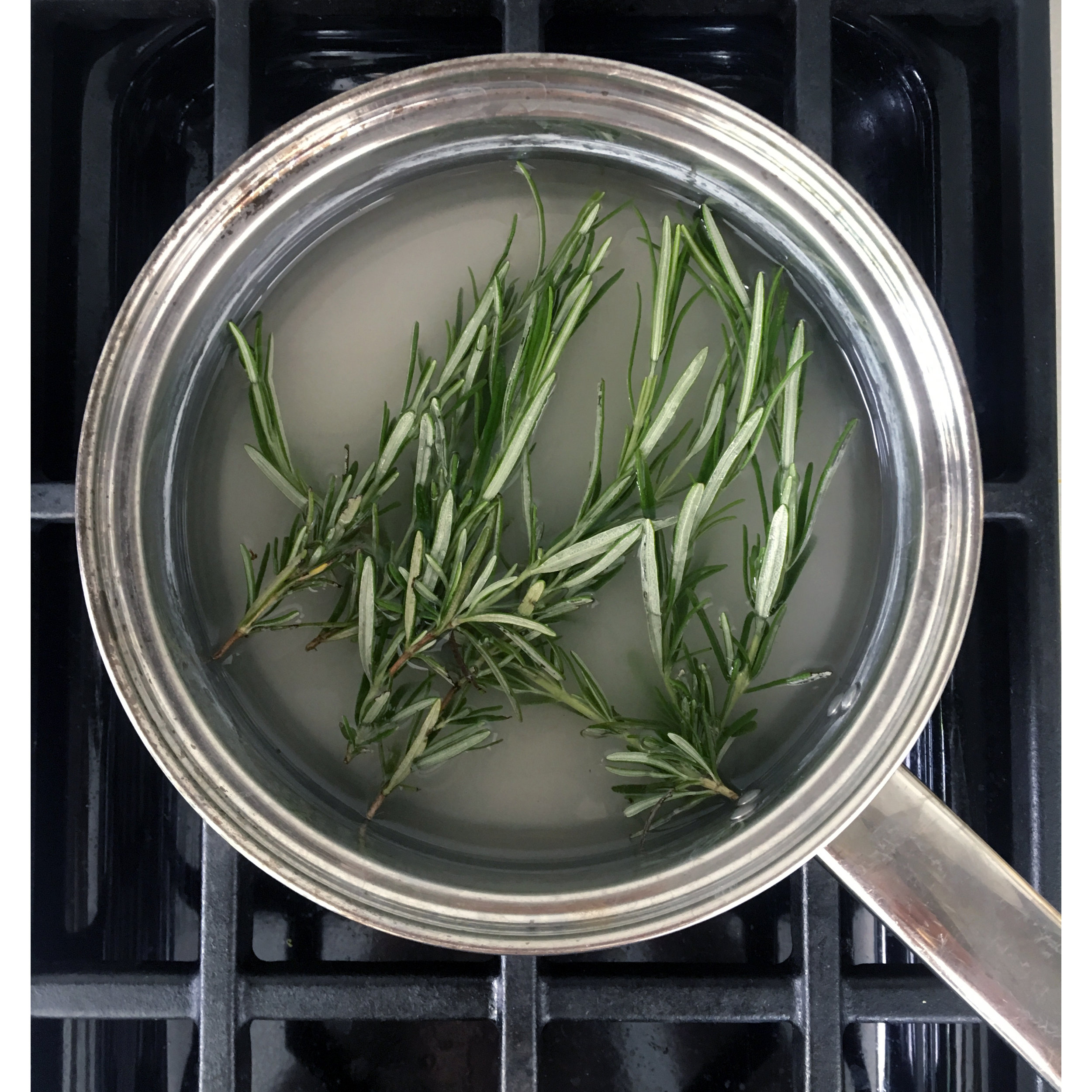 Simple syrup infused with rosemary
