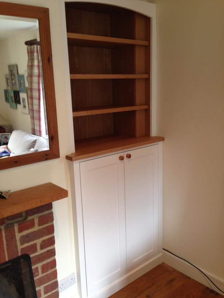 oak and white bookcase and storage.jpg