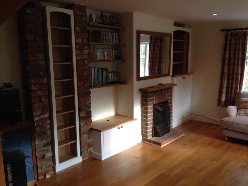 alcove units for awkward spaces, oak and white, with shelving.jpg