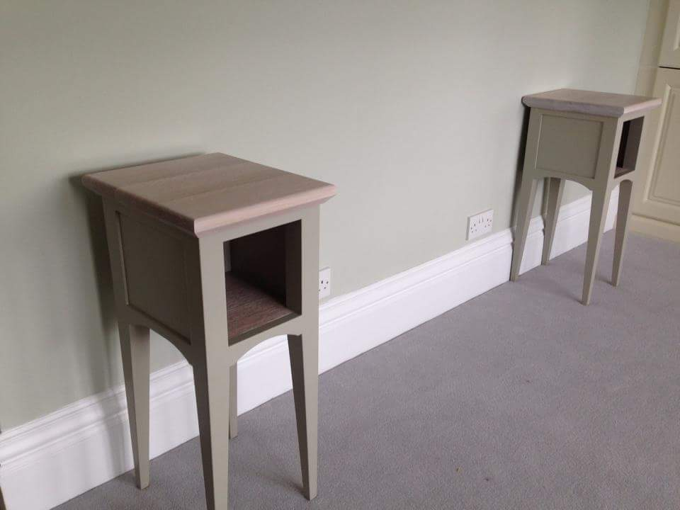 oak top finished in Osmo, tulip wood frame and legs, finished in farrow and ball bedside tables.jpg