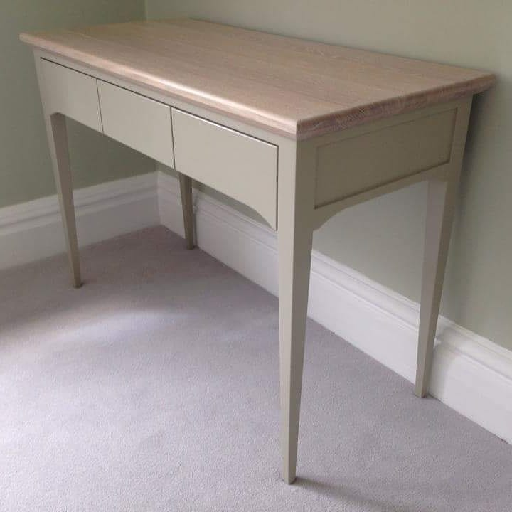 painted dressing table with oak top.jpg