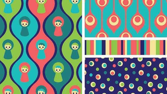 Leka fabric collection