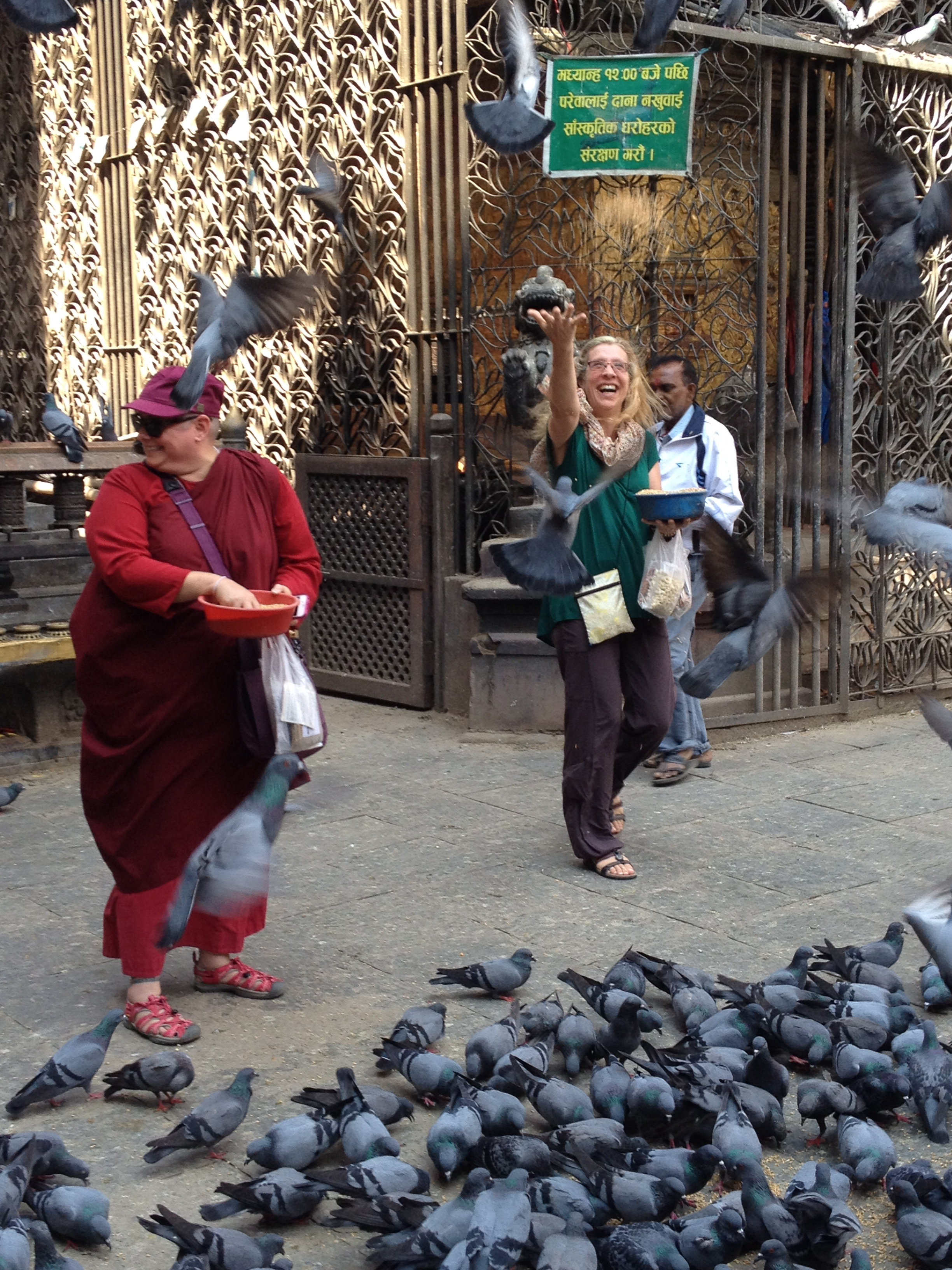 Feeding pidgeons in Durbar Square.jpg