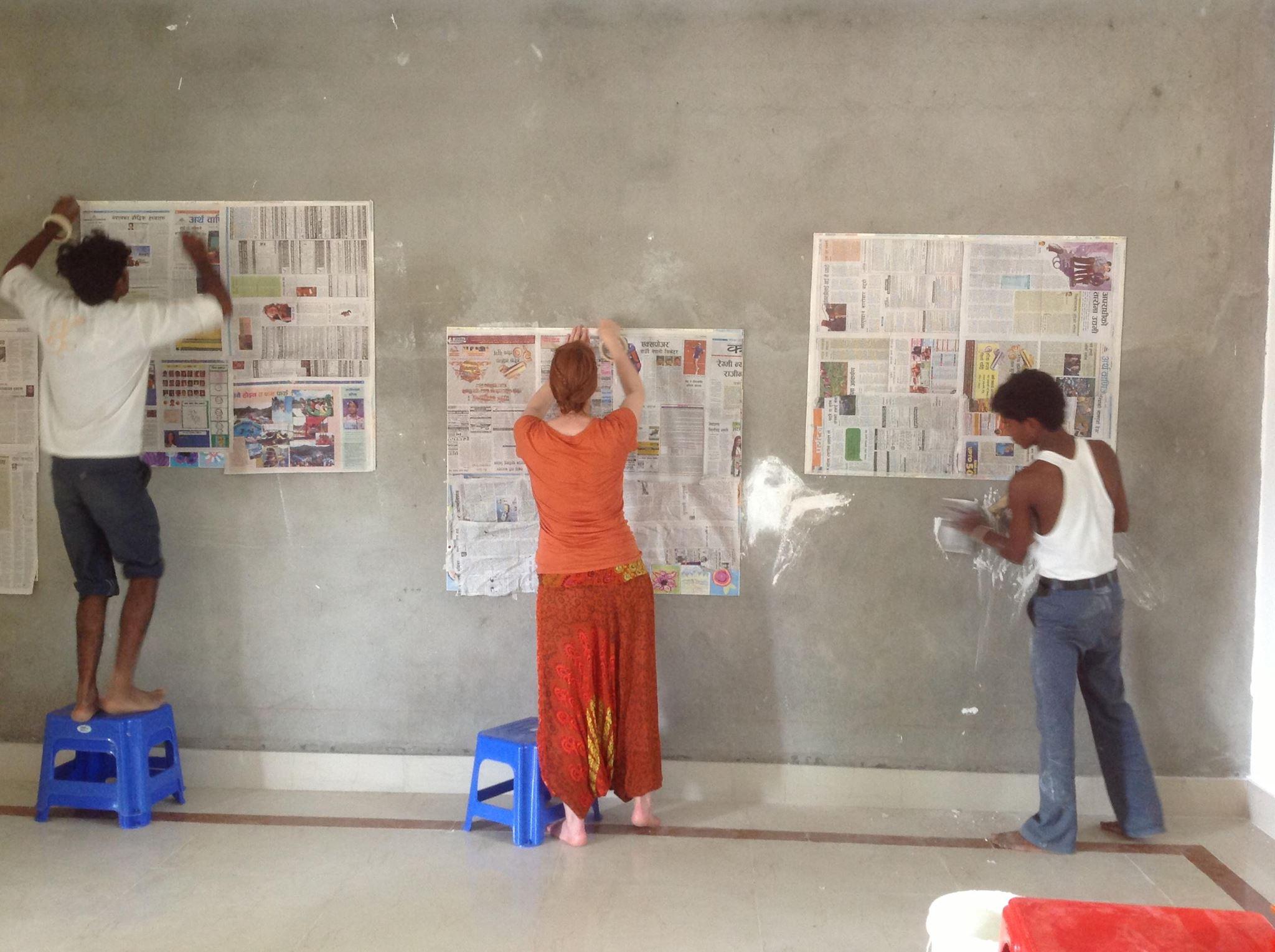 donna & guys paper over tiles.jpg