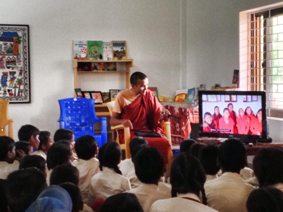 Watching Nuns video at Library.jpg