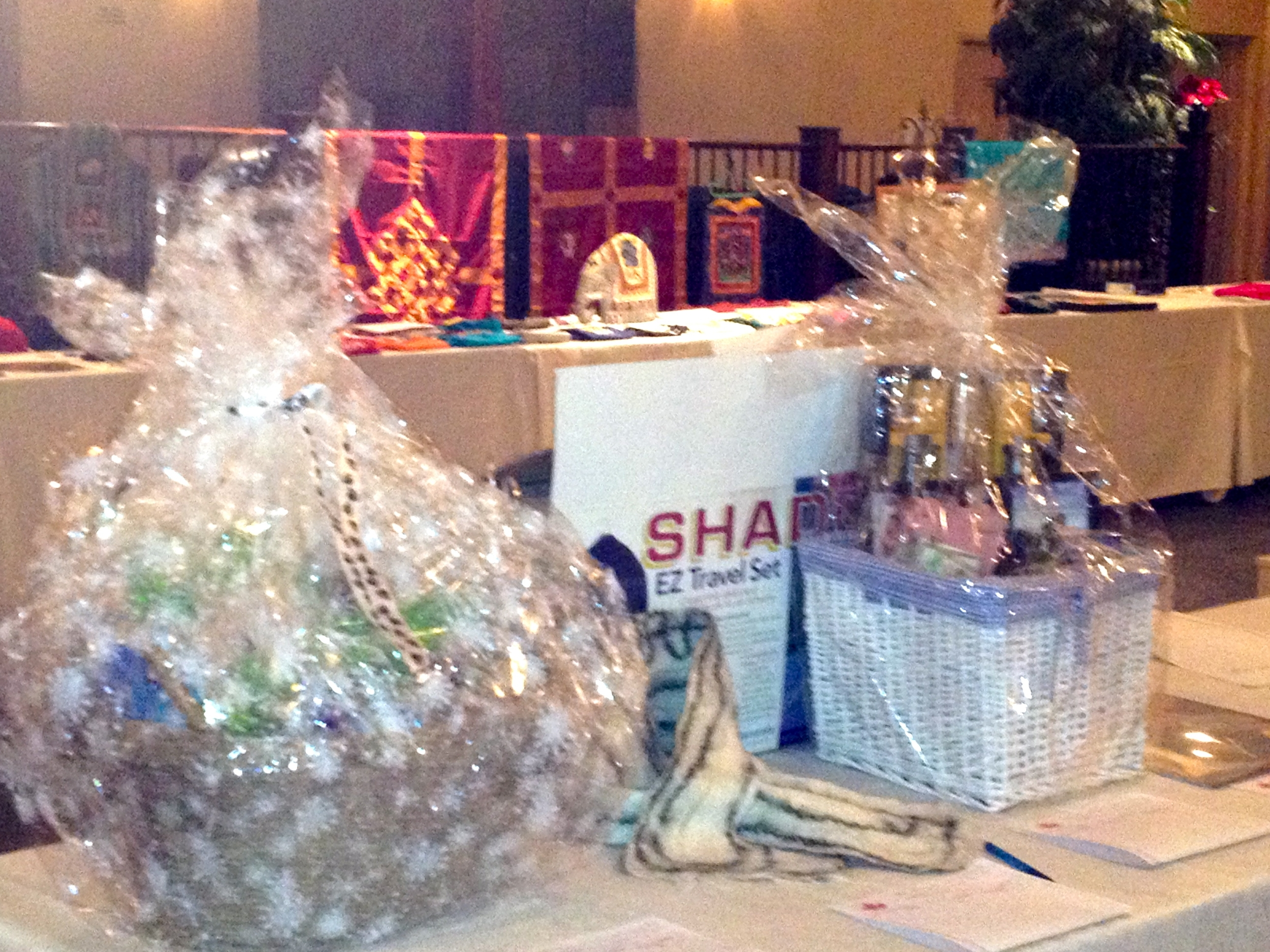 Nepal Night Auction baskets 2012.JPG