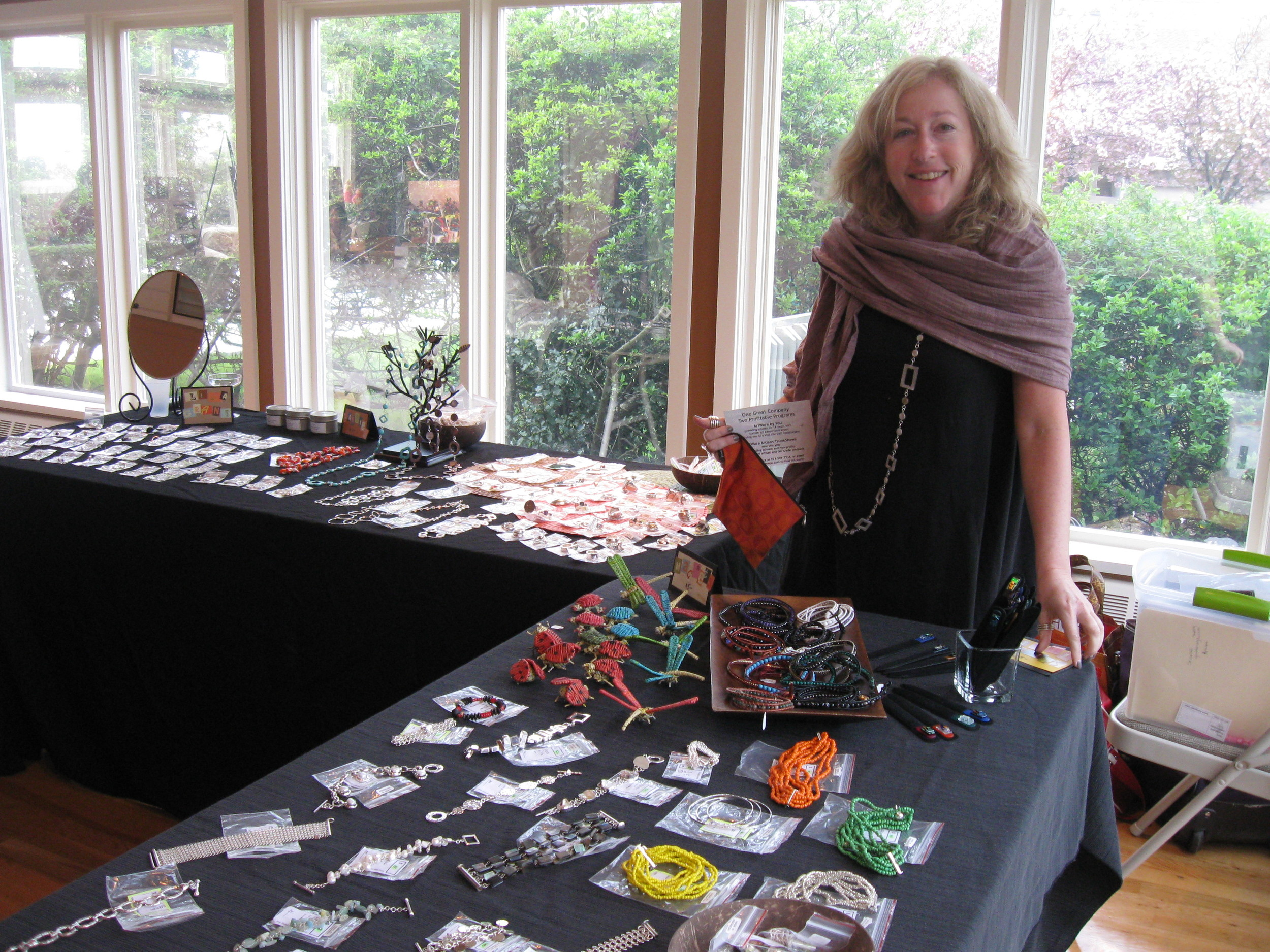 Diana with Tables Trunk Show 2011.jpg