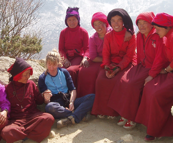 C with nuns Everest .JPG