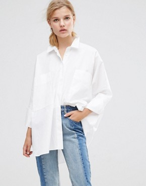 ASOS Oversized Shirt With Double Cuff