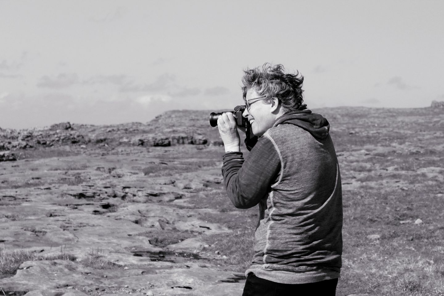 Cate on the Burren
