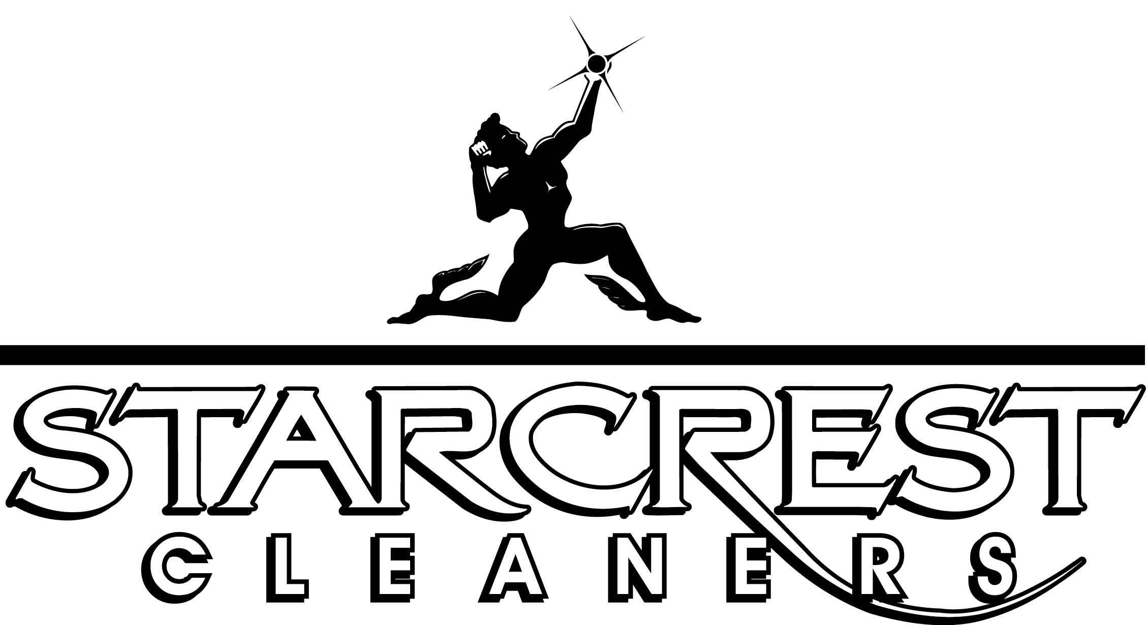 Hole Sponsor - Starcrest Cleaners logo black and white.jpg