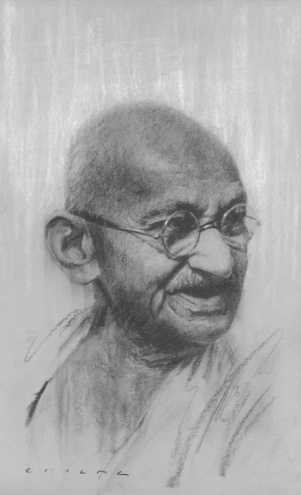 Mohandas Ghandi   Print Available from Studio550 Press