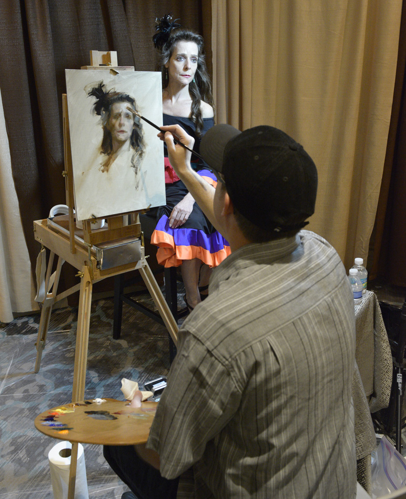 Casey demonstrating at the Portrait Society of America's Annual Conference.