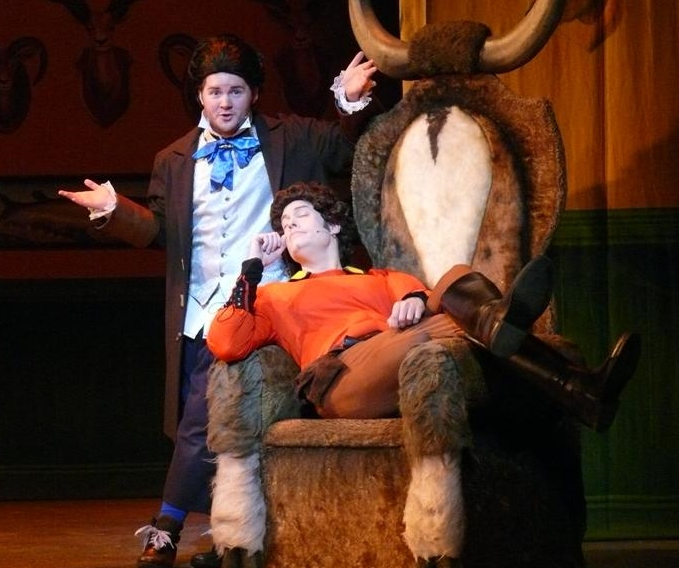 Phoenix Theatre actors Jonnie and Iain in Disney's Beauty and the Beast 2012