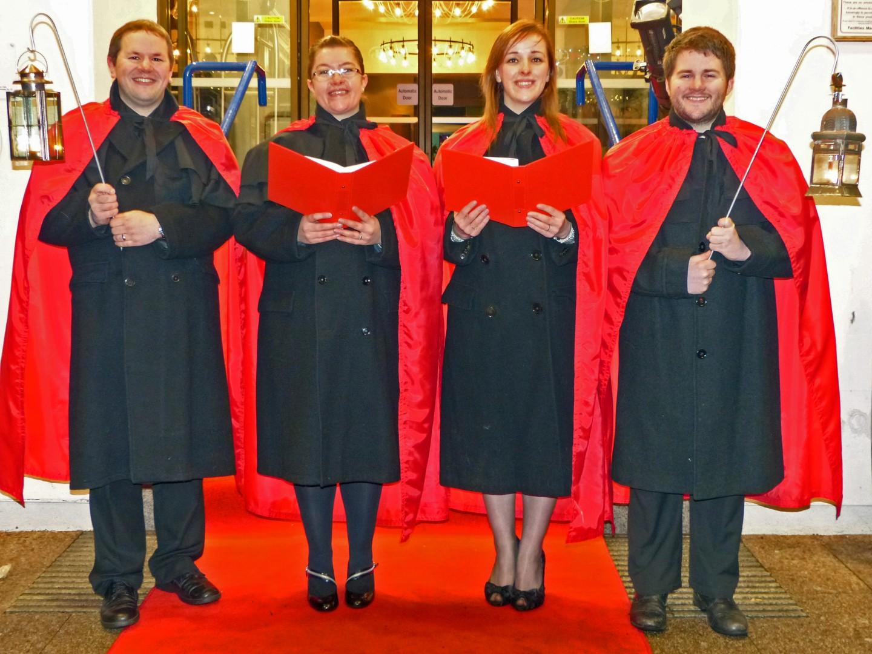 Phoenix Theatre carol singers at the Hilton