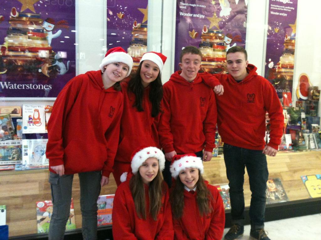 Phoenix Youth pupils celebrating Santa and Reindeer Parade
