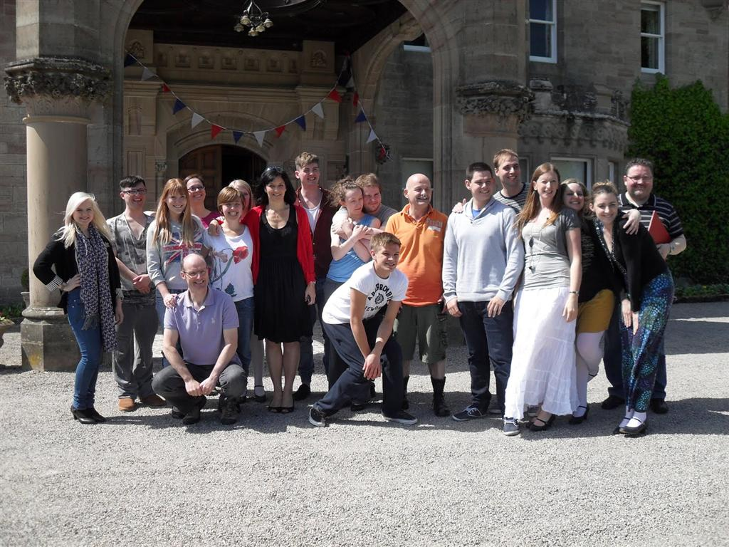 Phoenix Theatre Beauty and the Beast performers at Skibo Castle