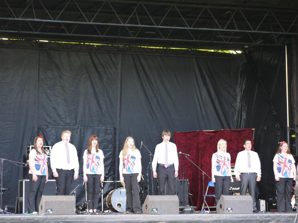 Phoenix Theatre and Phoenix Youth performers celebrating the Queen's Diamond Jubilee