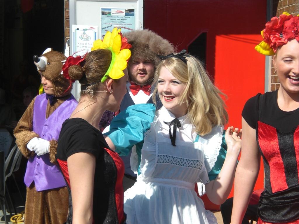 Phoenix Theatre dancers at the Stonehaven Harbour Festival