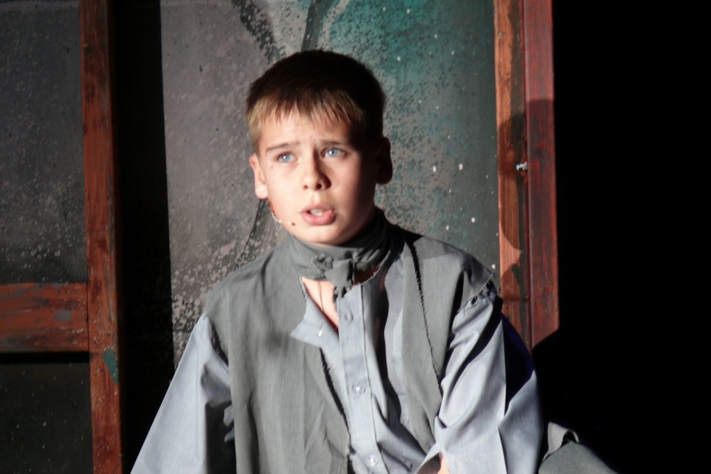 Liam as Oliver Twist in Phoenix Youth Theatre's 2008 production