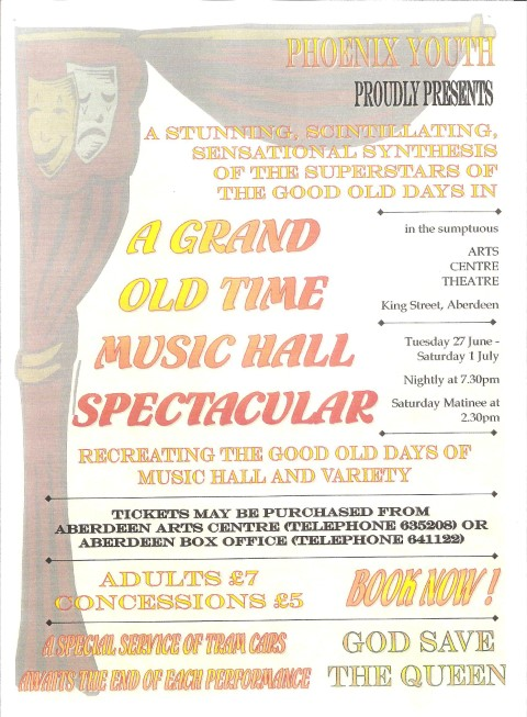 Phoenix Youth Theatre's A Grand Old Time Music Hall Spectacular (2000)