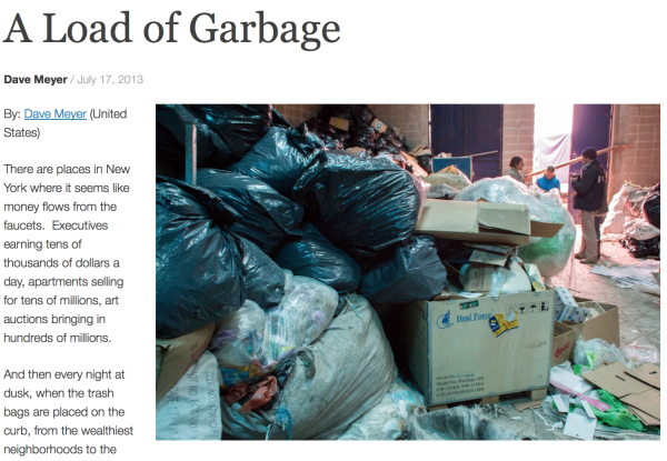 7/17/13 –Together in Dignity – by Dave Meyer :   A Load of Garbage