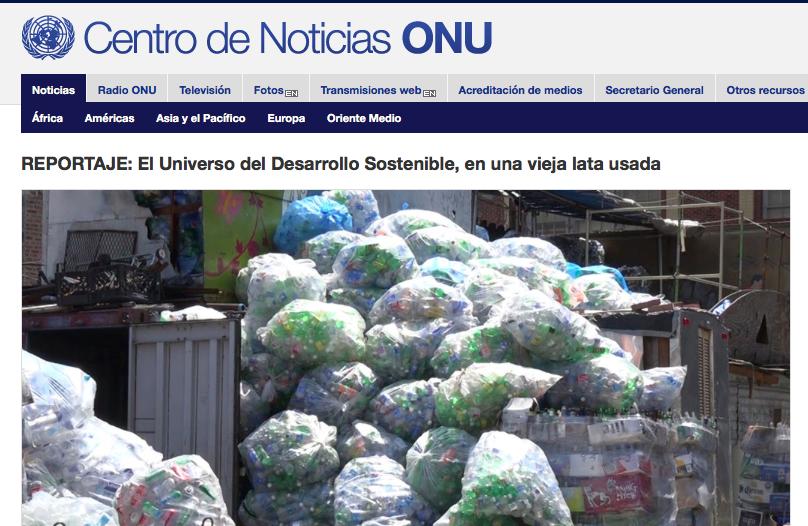 25/08/16 - Centro de Noticias ONU - El Universo del Desarrollo Sostenible en una vieja lata usada
