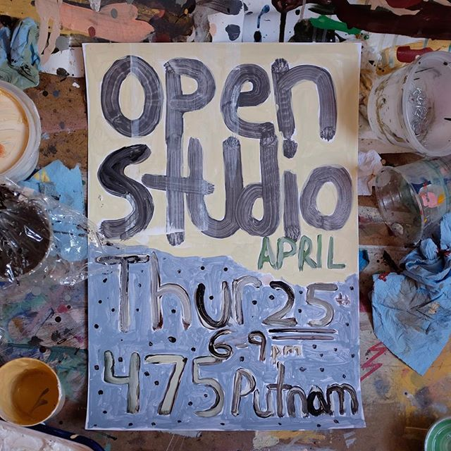 Open Studio this Thursday - April 25th - 6-9pm - 475 Putnam - Bedstuy Brooklyn.  Come check out the studio and all the things I've been making this month @bedstuyartres !!!