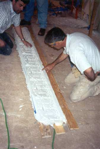 The new rubber mold is then inspected and is now ready to be used to cast new duplicate moldings.