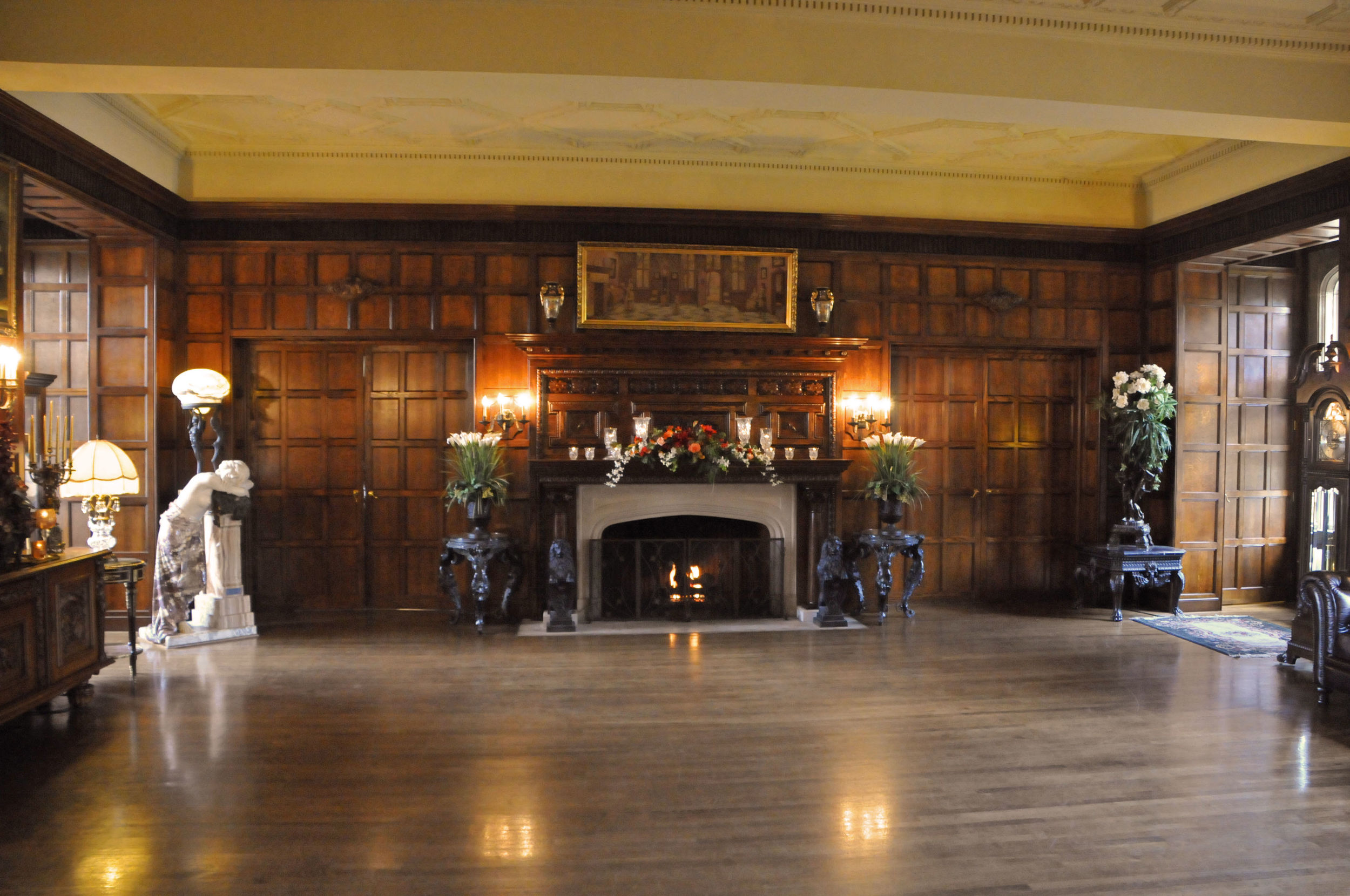 GREAT HALL READY FOR THE DANCING TO BEGIN.jpg