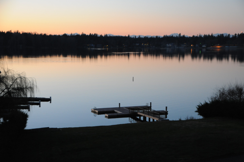 American Lake As Evening Begins. Olympic Mountains In The Background.jpg