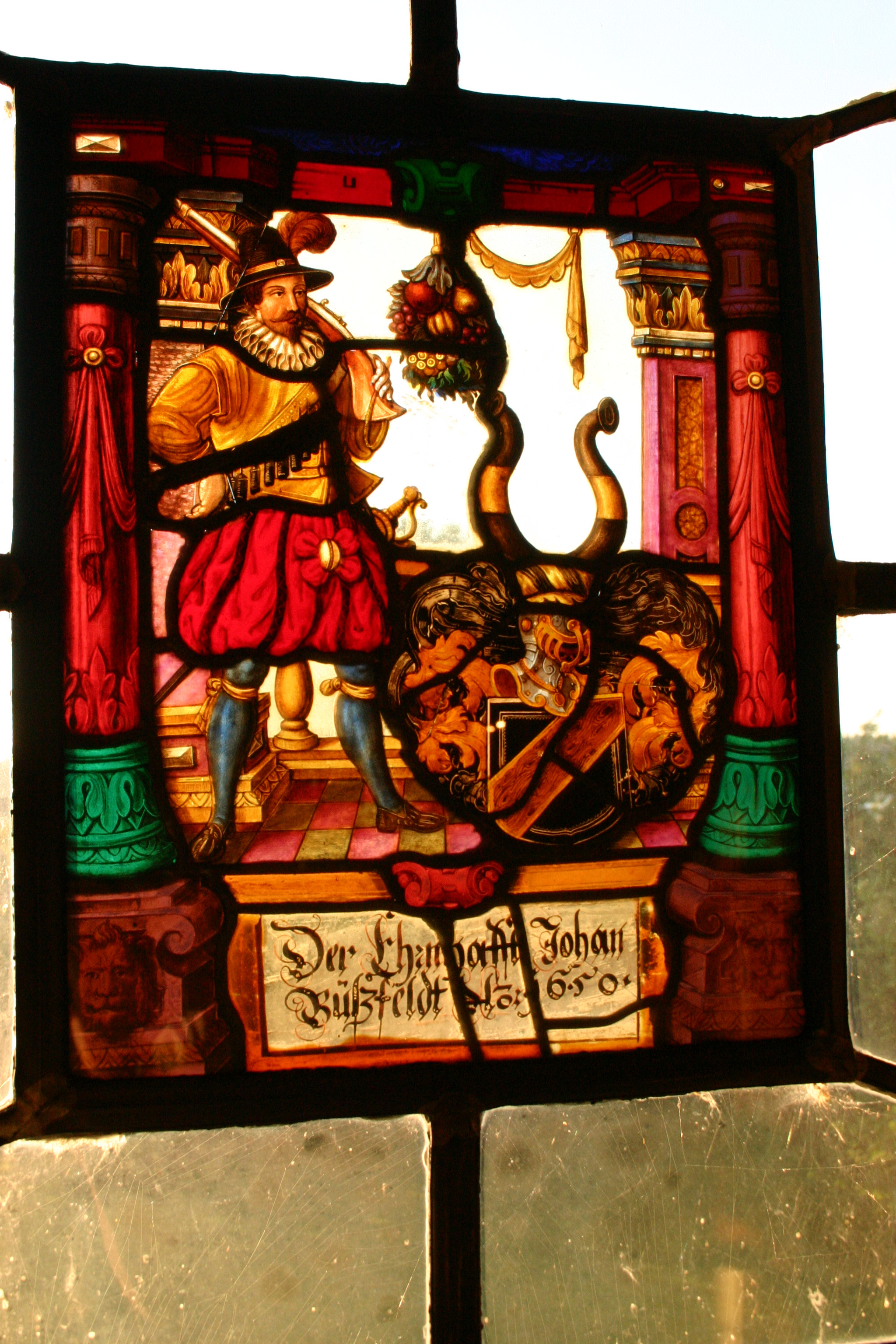 Stained glass from the 16th century