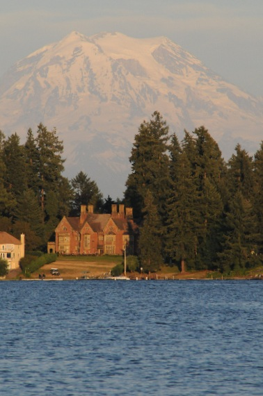 Mountain Rainer As A Backdrop for Thornewood Castle View From American Lake.jpg