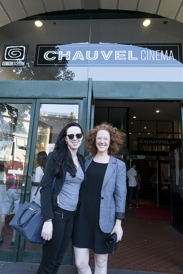 Me and the amazing director Melanie Jayne (Waiting In The Wings) outside the Chauvel Cinema.