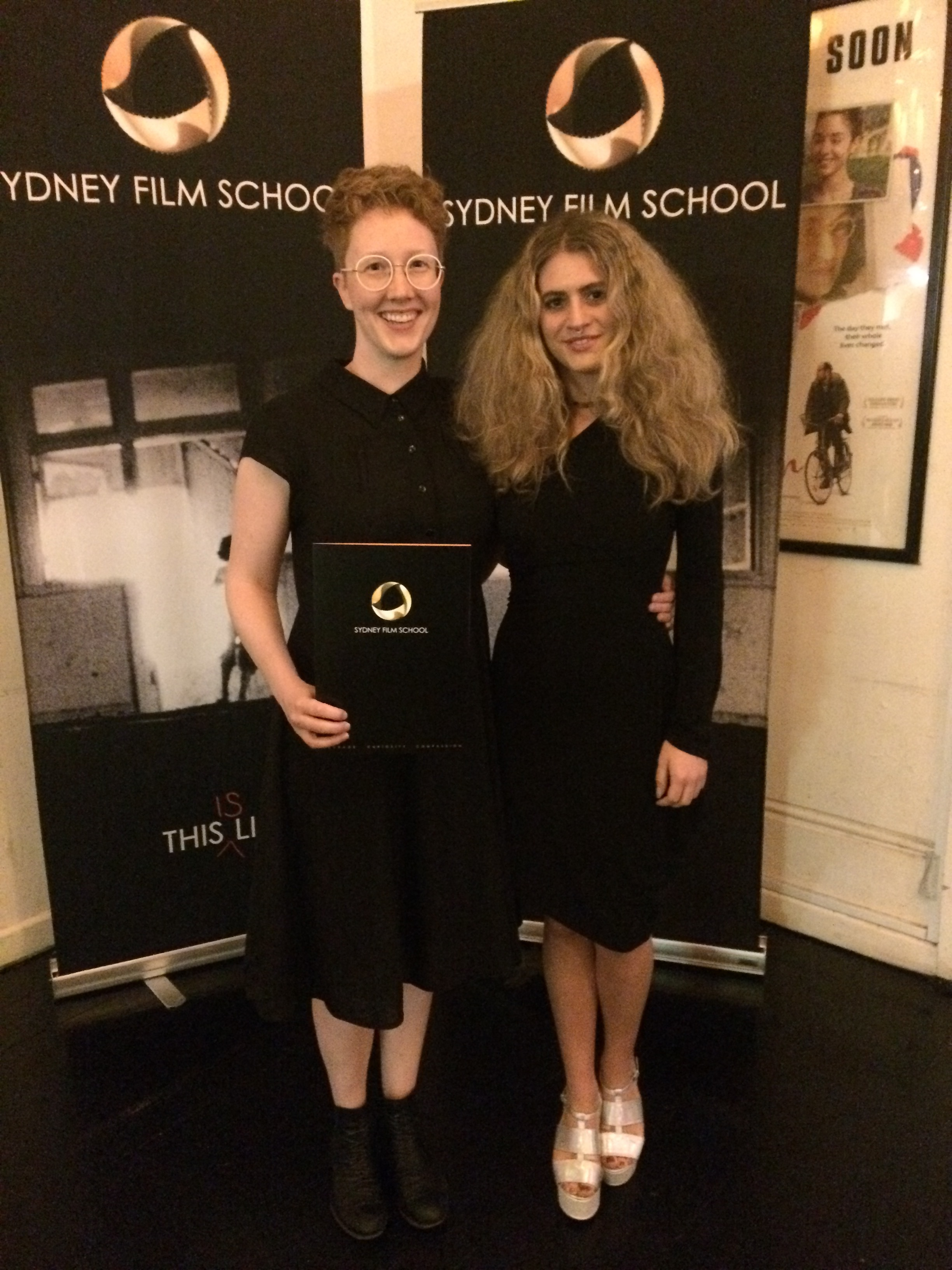 Me and the amazingly talented director Vittoria Merlino Dentice on the awards night at the Chauvel Cinema.
