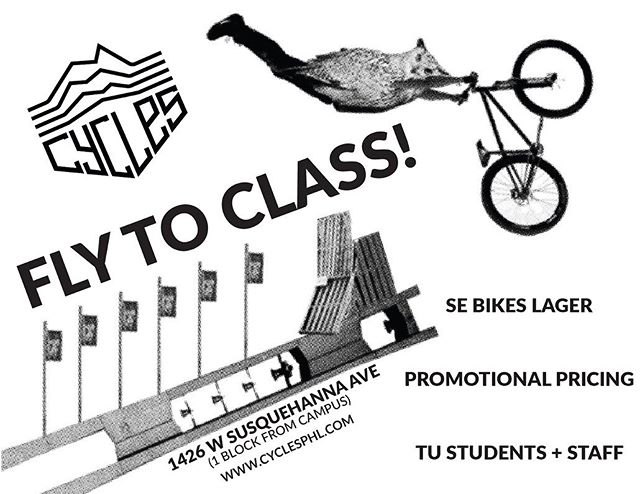 Hey @templeuniv students and staff! Through a partnership with our friends at @sebikes we have a special deal just for you all! The prices are so low we aren't allowed to post them, so y'all will have to come over here to see em! @tusustainability @bike_temple @templecycling @thefoxschool @tyler_artandarchitecture @temple_contemp @templeuengineer #cyclesphl #bikeshop #northphilly #bikephl #explorephl #dealsdealsdeals #sebikes #sebikeslife #sustainphl #sustainablebusiness